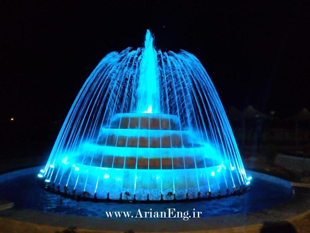 آبنمای ریتمیک ( هارمونیک ) تالار هزارو یک شب شیراز