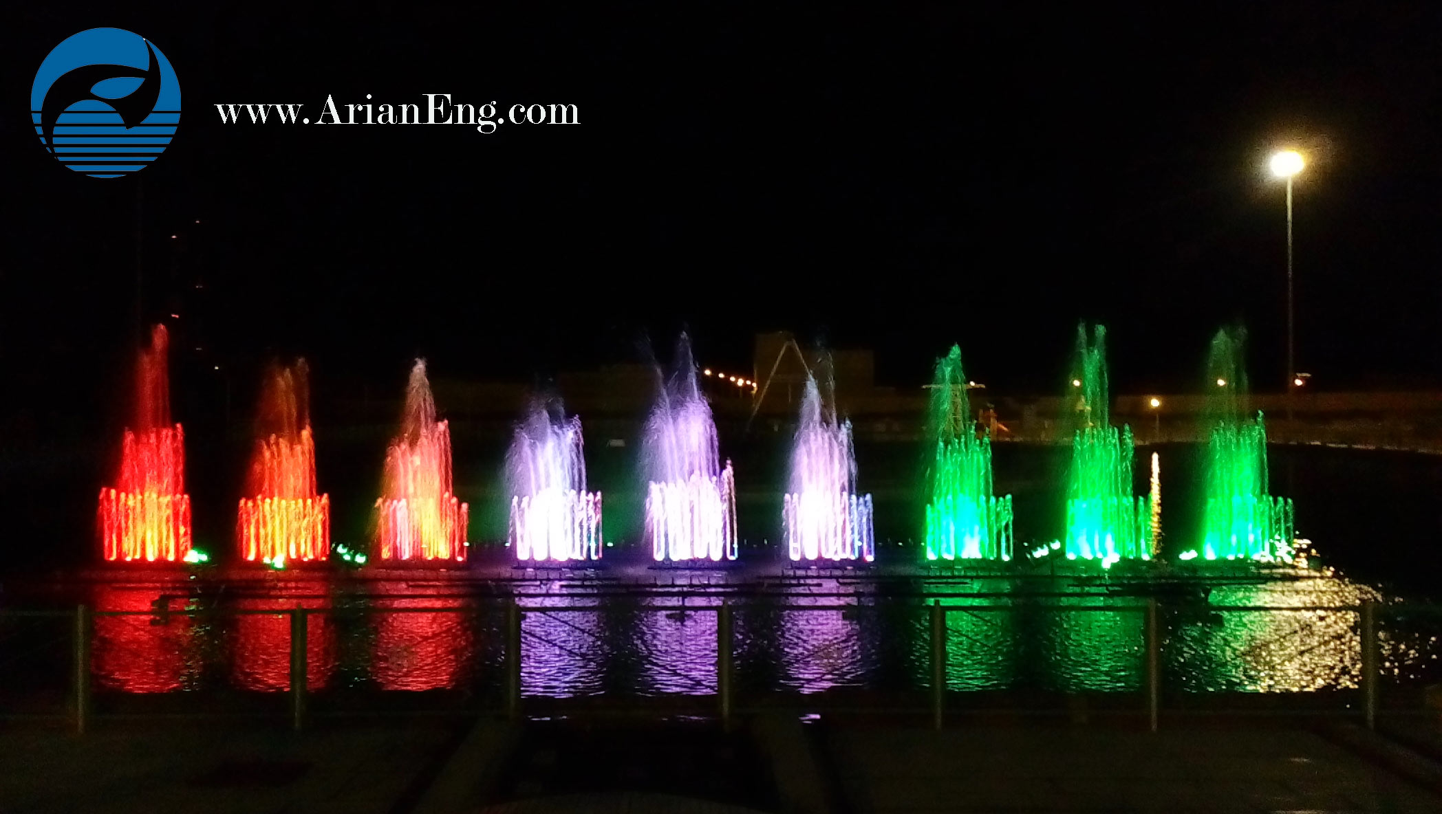 آبنمای موزیکال و هارمونیک پارک بزرگ شهر ( یزد )